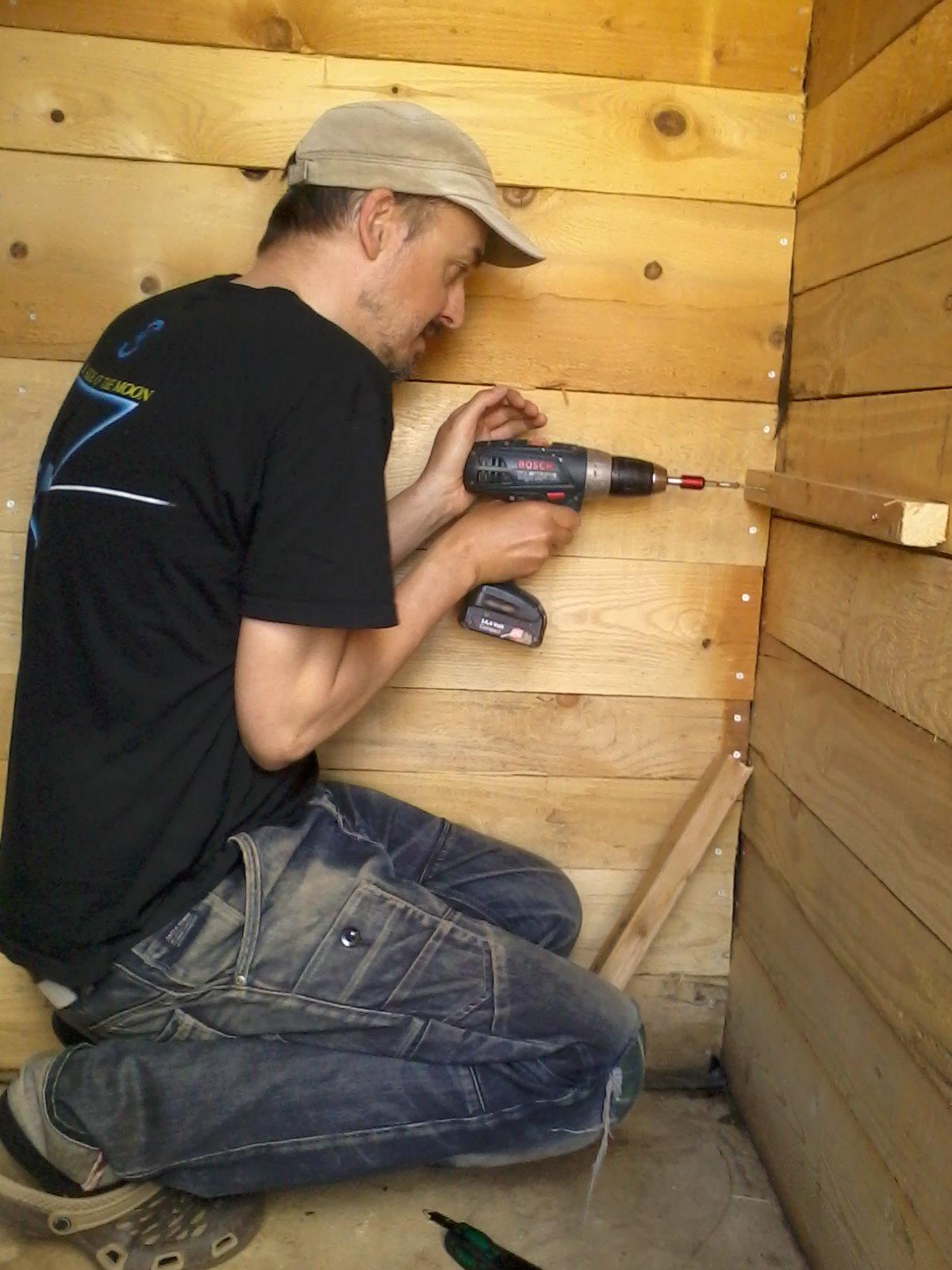Guy drilling
