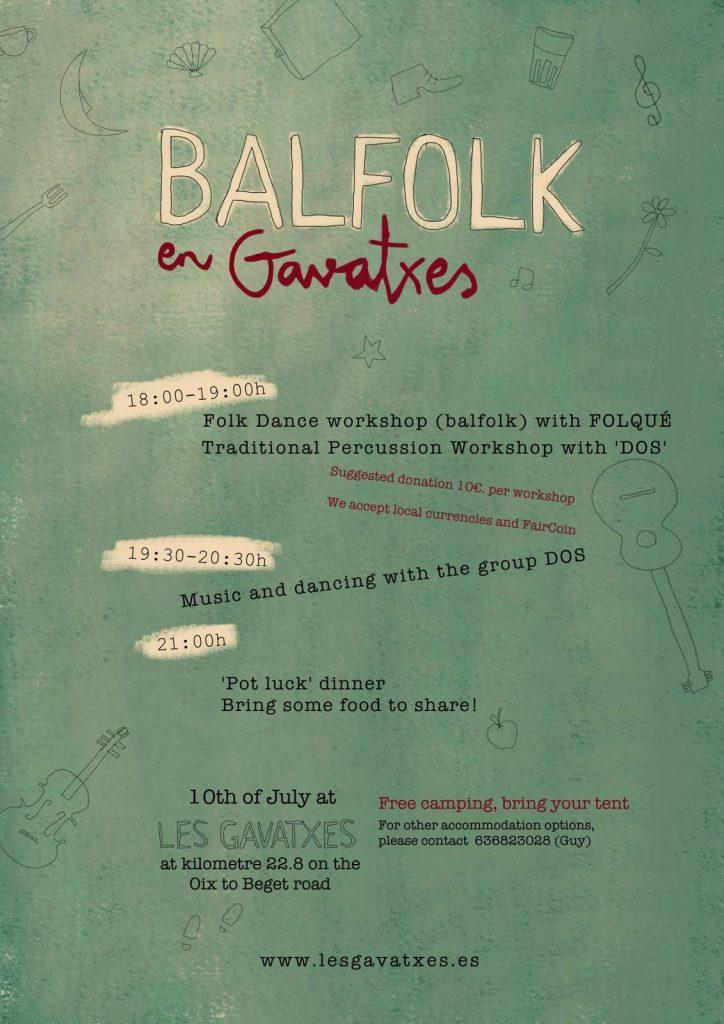 Flyer for Balfolk Folk Dance Mini Festival, Les Gavatxes