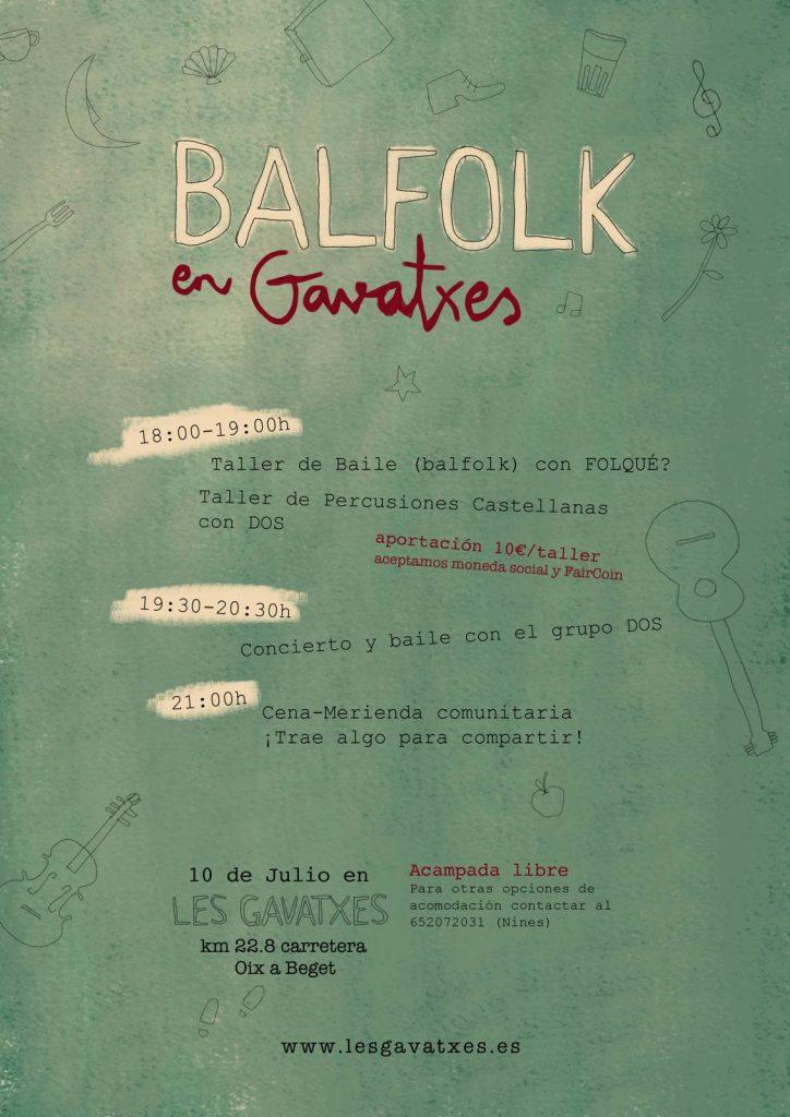 Cartel de Balfolk, música y baile folk